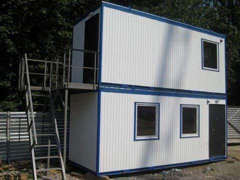 Модульный блок-контейнер двухэтажный 03