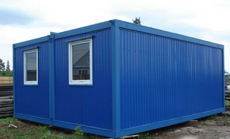 Модульный блок-контейнер сантехнический с душем большой - 01