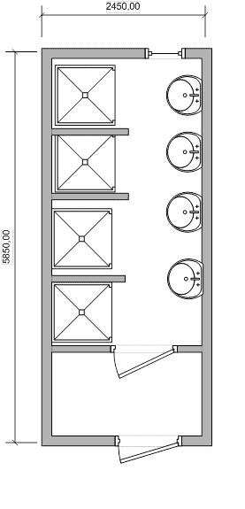 Бытовка сантехническая с душем - 02