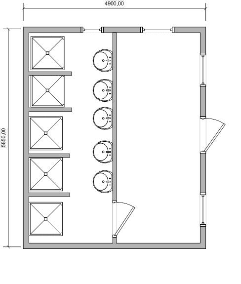 Модульная бытовка сантехническая с душем - 01