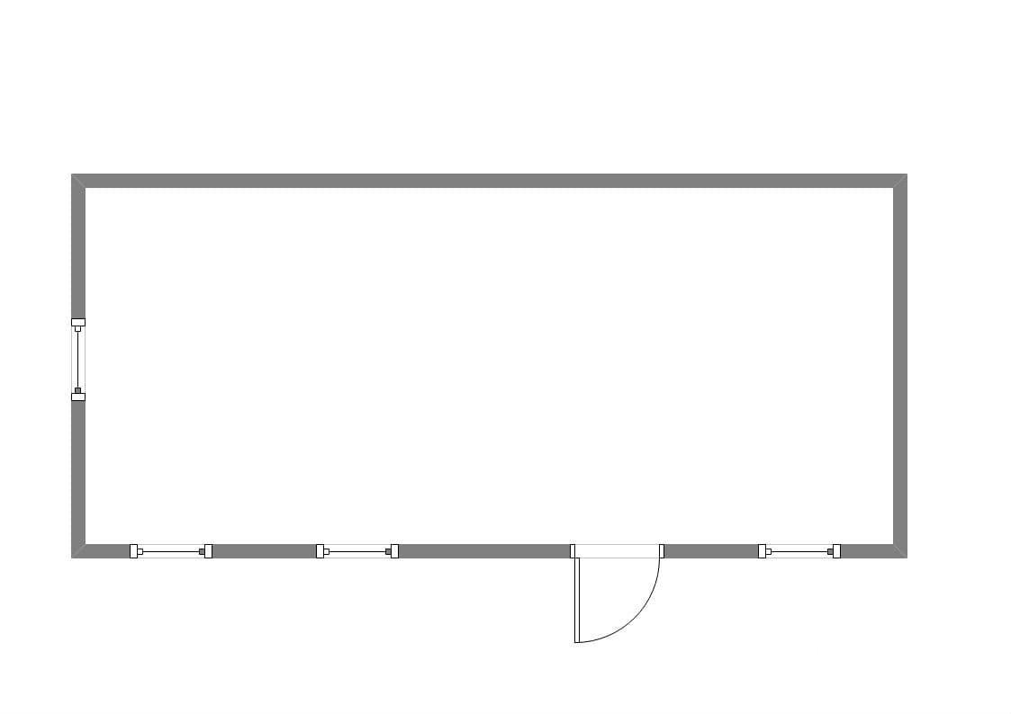 Хозблок металлический для дачи ХБ-04