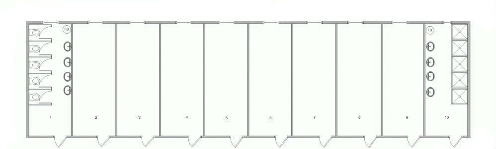 Модульный блок-контейнер бытовой - 03