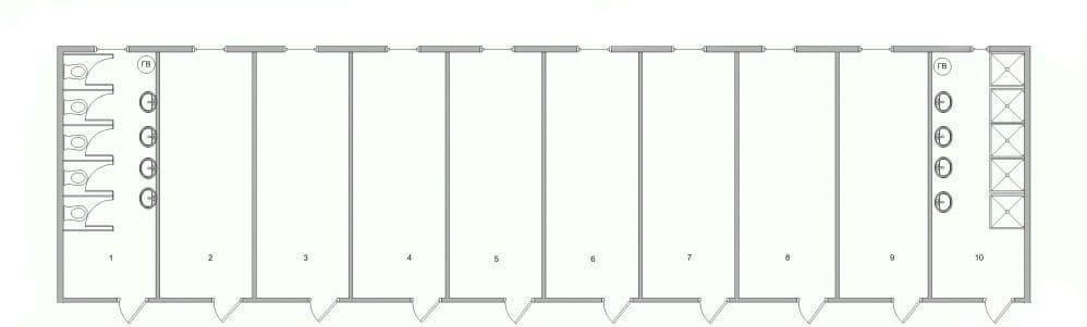 Модульный блок-контейнер бытовой - 08